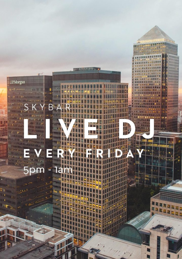 Friday nights at Capeesh Sky Bar - Canary Wharf