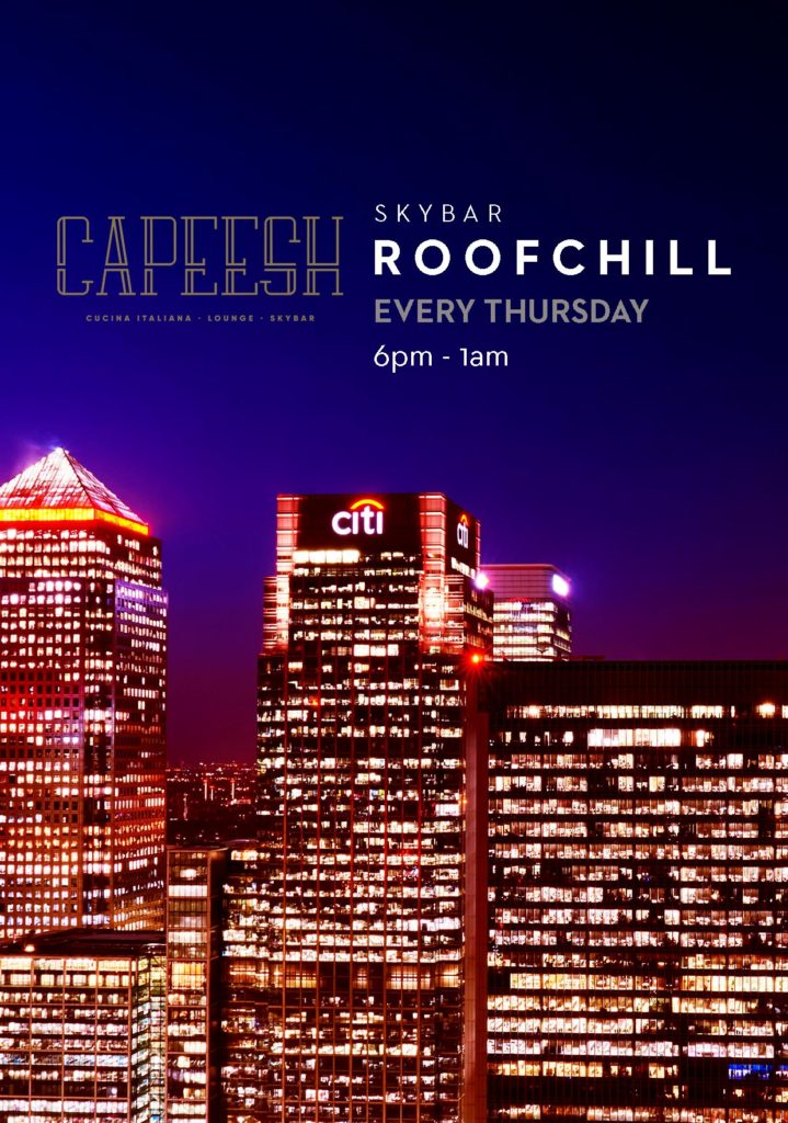 RoofChill Capeesh Sky Bar - Canary Wharf