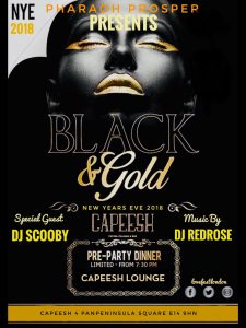 LOVE FEST IS BACK AND PHARAOH PROSPER PRESENTS THE BLACK GOLD MASQUERADE PARTY - Capeesh
